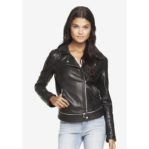 Express Black Minus the Leather Moto Jacket XS